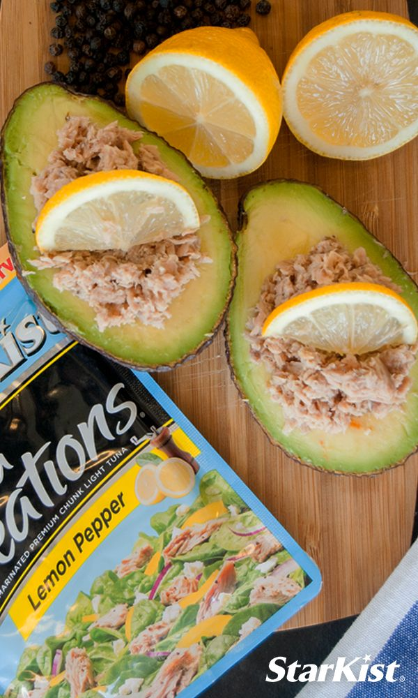 Top off an avocado with StarKist Tuna Creations Lemon Pepper. Snack time just got more delicious.