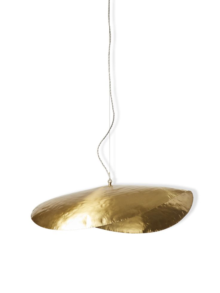 Matt brass lamp made by Paola Navone for Gervasoni