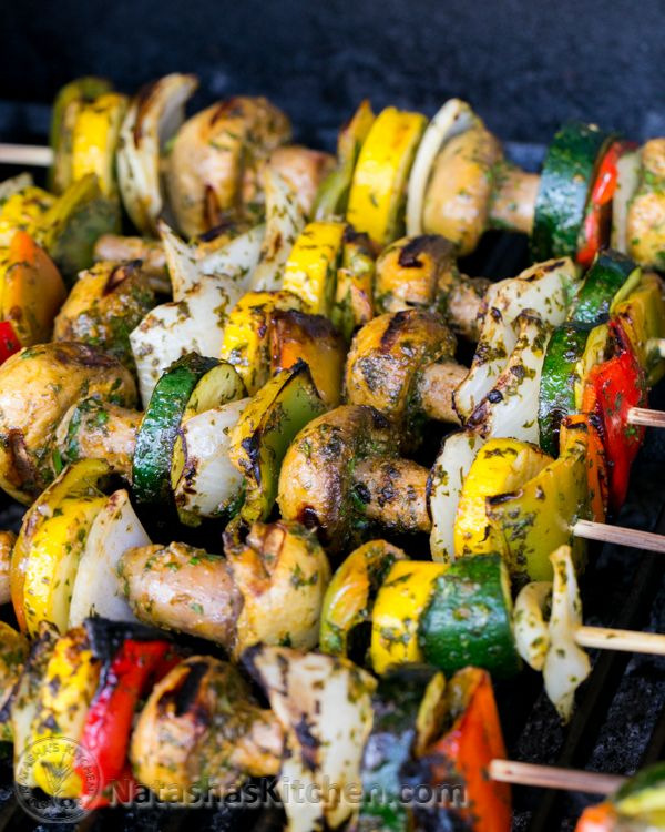 #Paleo #Vegan Grilled Moroccan Vegetable Skewers: Pin and print this recipe then plaster it on your fridge; yep it's that good. | NatashasKitchen.com