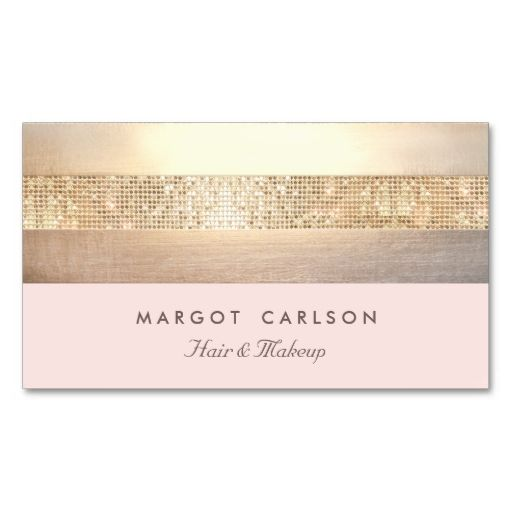Elegant Gold Sequins Light Pink Striped *NO SHINE Business Card Template. I love this design! It is available for customization or ready to buy as is. All you need is to add your business info to this template then place the order. It will ship within 24 hours. Just click the image to make your own!