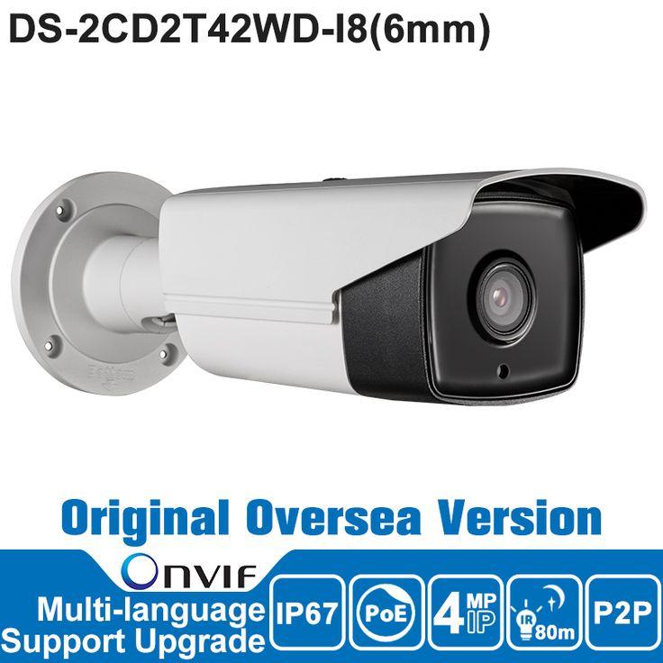 HIK IP Camera 4MP 6mm DS-2CD2T42WD-I8 IP Camera POE P2P Security IP Camera Outdoor IR CCTV Camera