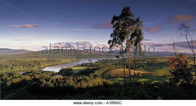 VIEW ACROSS LOCH KEN TOWARDS THE GALLOWAY FOREST PARK DUMFRIES AND GALLOWAY - Stock Image