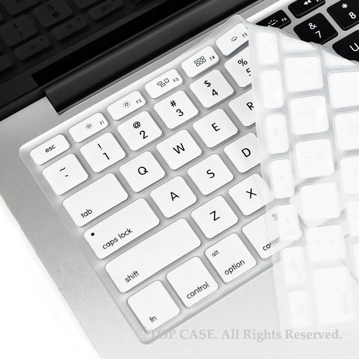 "TopCase WHITE Silicone Keyboard Cover Skin for Macbook 13"" Unibody / Macbook Pro 13"" 15"" 17"" with or without Retina Display / New Macbook Air 13"" / Wireless Keyboard"