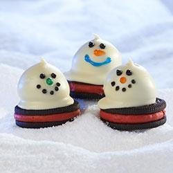 Melting Snowmen OREO Cookie Balls Allrecipes.com