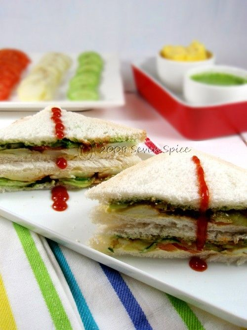 Bombay Vegetable Sandwich Recipe | How to make Bombay (Roadside) Sandwich