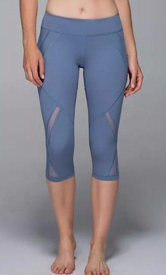 Lululemon Cool To Street Crop Legging Blue Denim Size 6 Dusty Blue #Lululemon #PantsTightsLeggings