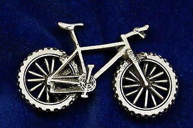 Hardtail Mountain Bike Pin  Cap Pin Pewter by OnTargetJewelry, $17.99