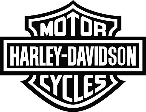 Harley Davidson Bar and Shield Decals (4″x3″, White)  Harley Davidson Motor…