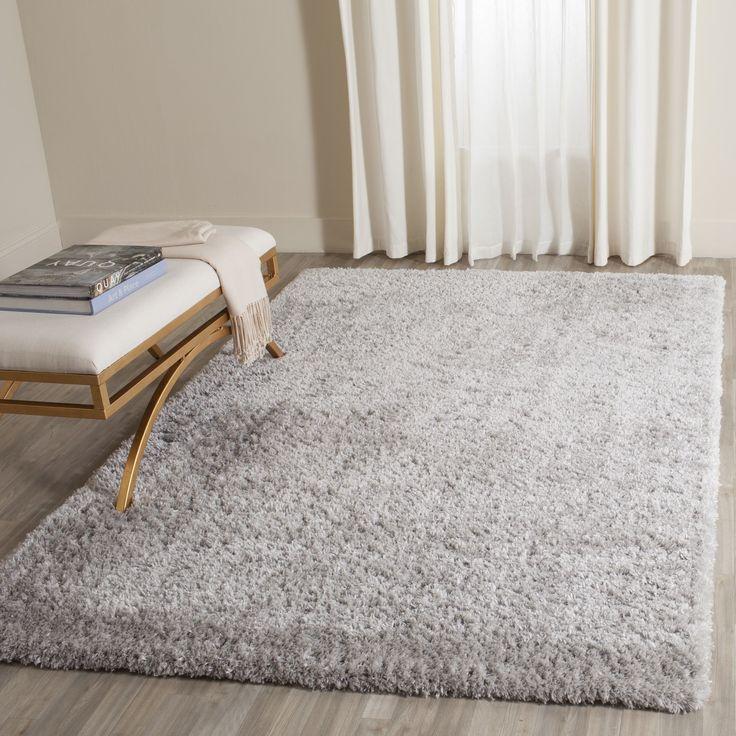 Safavieh Indie Grey Shag Rug (3' x 5') (SGI320B-3), Size 3' x 5' (Polyester, Geometric)
