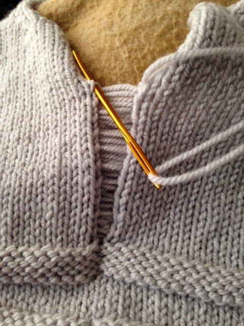 Knitting Joining Seams Mattress Stitch : #Knitting #Tutorial -