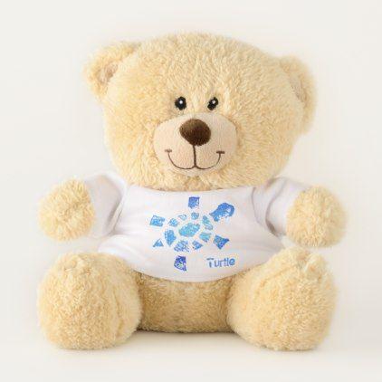 Blue Water Turtle Small Teddy Bear -nature diy customize sprecial design