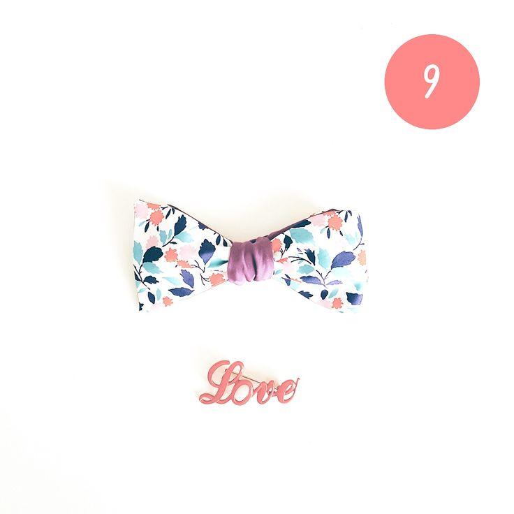 CHRISTMAS GIFT #9 Un joli noeud papillon ou une jolie broche pour ajouter une touche originale à sa tenue du réveillon  #ideecadeau #giftidea #cadeaudenoel #christmasgift #lastminutegift #bowtie #noeudpapillon #liberty #vintage #leflageolet #broche #love #blog #alinaerium