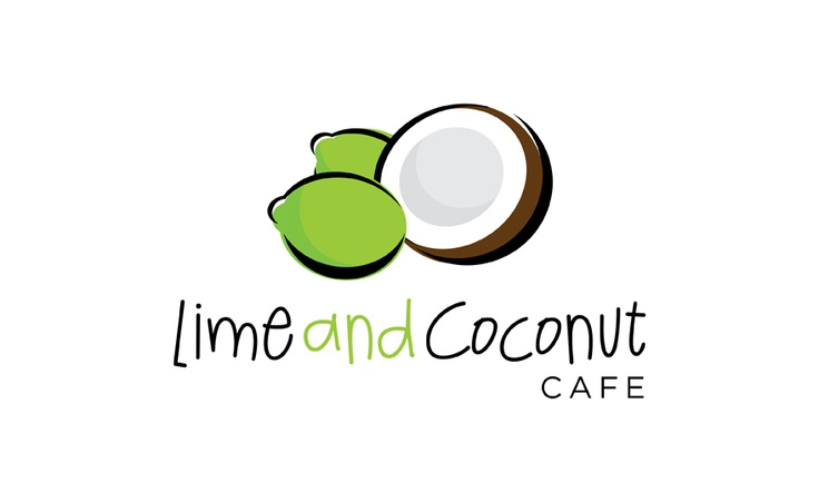 © Lime & Coconut Cafe Logo Concept by Motif Creative Design