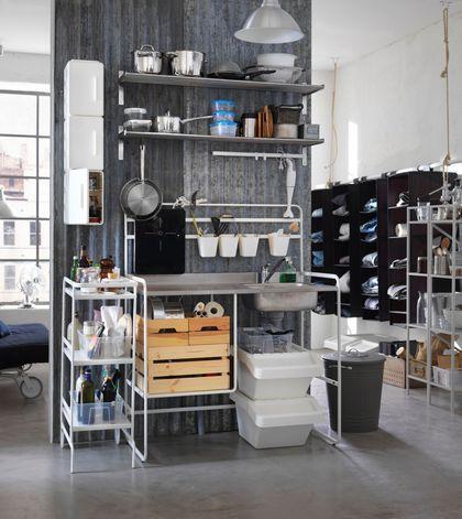 98 best Des étagères de cuisine en veux-tu, en voilà ! images on - meuble cuisine porte coulissante ikea