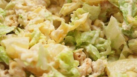 Салат из китайской капусты, курицы и ананаса