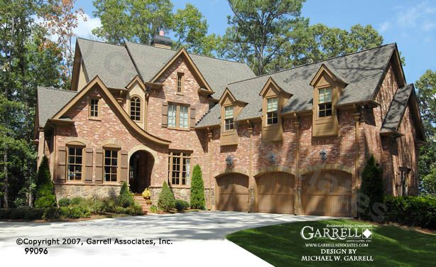 Garrell Associates Inc Cheshire House Plan 99096European Manor