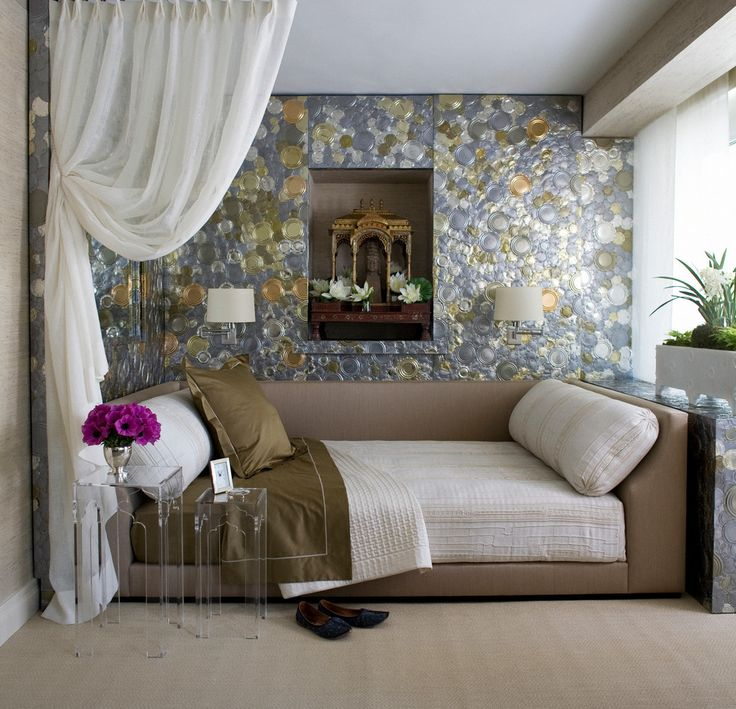 upholstered daybed Bedroom Transitional with daybed exotic bedroom glamorous room glittery room