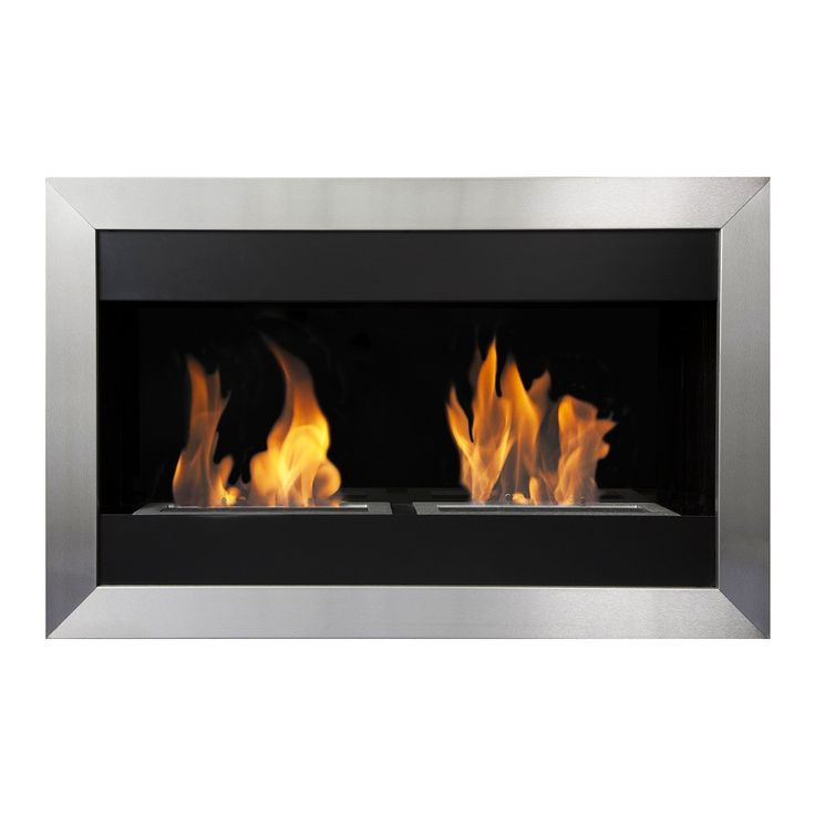Bio-Blaze Square Small II - Wall Mounted Ventless Ethanol Fireplace
