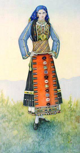 Macedonian Costume: Traditional Greek Woman's #costume (Kavakli #Macedonia) northern #Greece