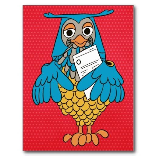 Meneer de Uil Postcard. Nederlandse kinderserie De Fabeltjeskrant uit de jaren 70 http://www.zazzle.com/meneer_de_uil_postcard-239283599047804879?rf=238087280021604351