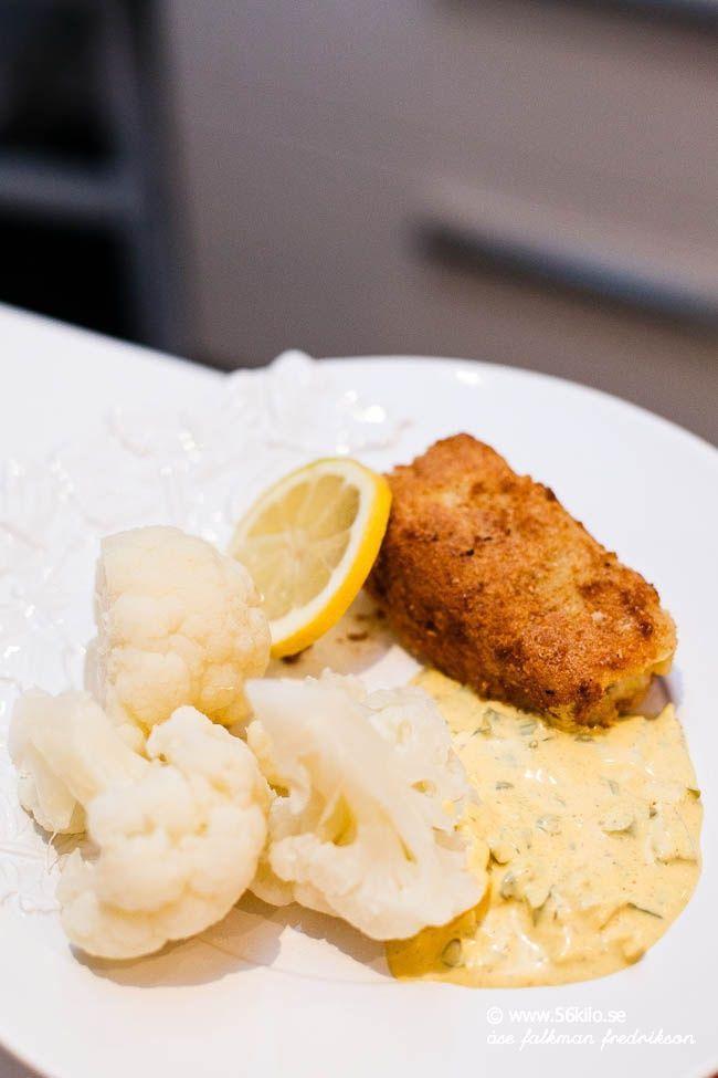Mandelpanerad torsk med remouladsås