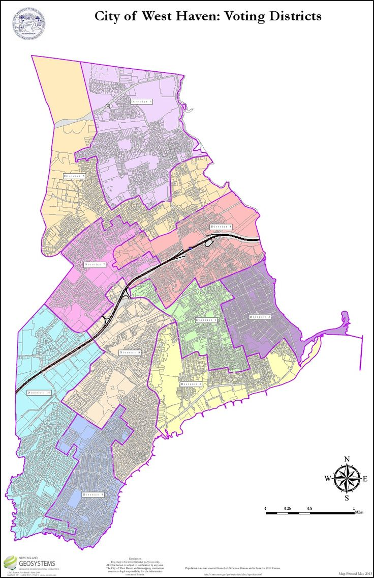 Adopted West Haven, CT Voting Districts 05-28-2013  Curbside Trash Pickup Days  Monday: Districts 1 & 3 Tuesday: Districts 2 & 4 Wednesday: Districts 5 & 6 Thursday: Districts 7 & 8 Friday: Districts 9 & 10