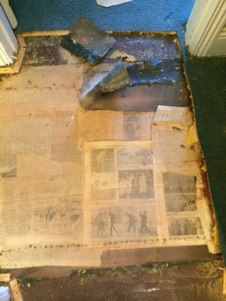 Newspapers from the 1940's under the floors. There were some great sales at the butchers that week.