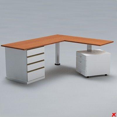 free desk office 3d model - Desk office021.ZIP... by Fworx
