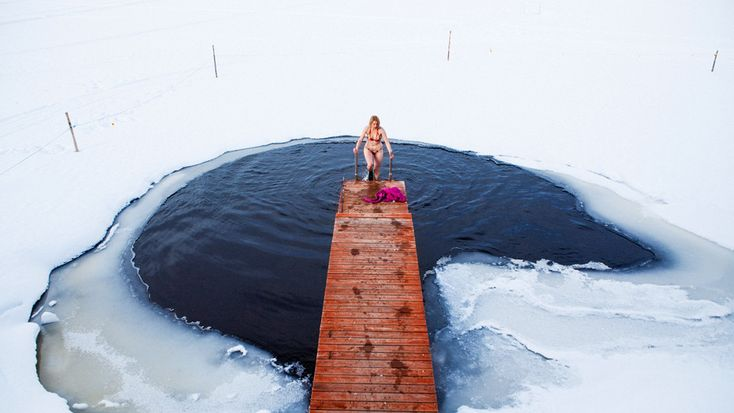 AVANTO!! Feel the freezing temperature after sauna.  Photo credit. Visit Finland