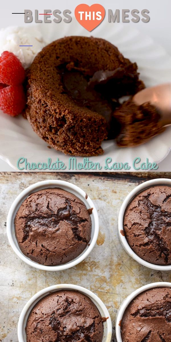 Easy Chocolate Lava Cakes Dessertrecipes Chocolate Molten Lava Cakes Are One Of My Very Favorite De Postres Simples Comidas Dulces Recetas Faciles Postres