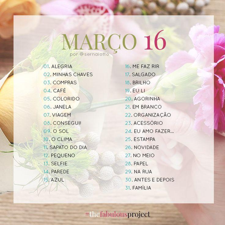 #thefabulousproject: março de 2016 - Sernaiotto