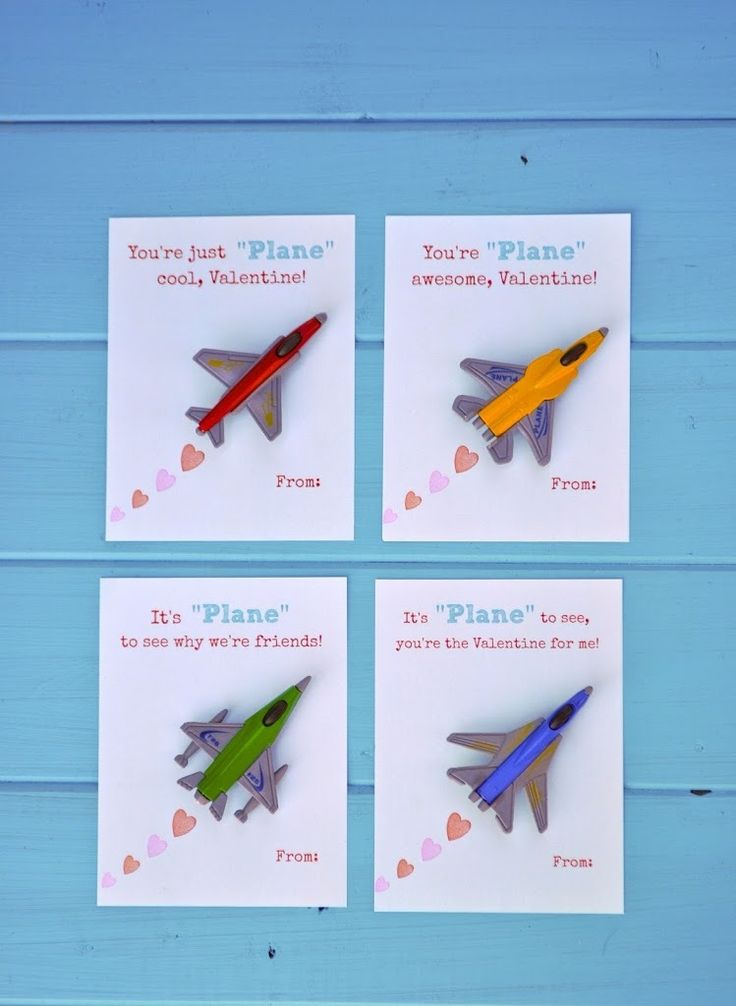 Free Printable Toy Plane Valentines: make your own Valentines this year with adorable toy airplanes and free printables.