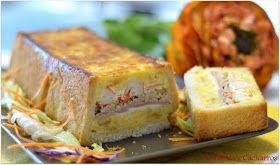Chismes y Cacharros: Pastel Salado de Tortilla ( 19º Desafío en la Cocina)