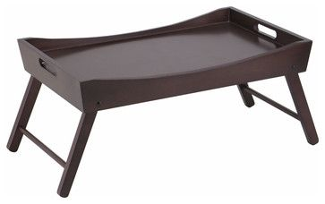 Benito Bed Tray with Curved Top - transitional - Serving Trays - Modern Furniture Warehouse