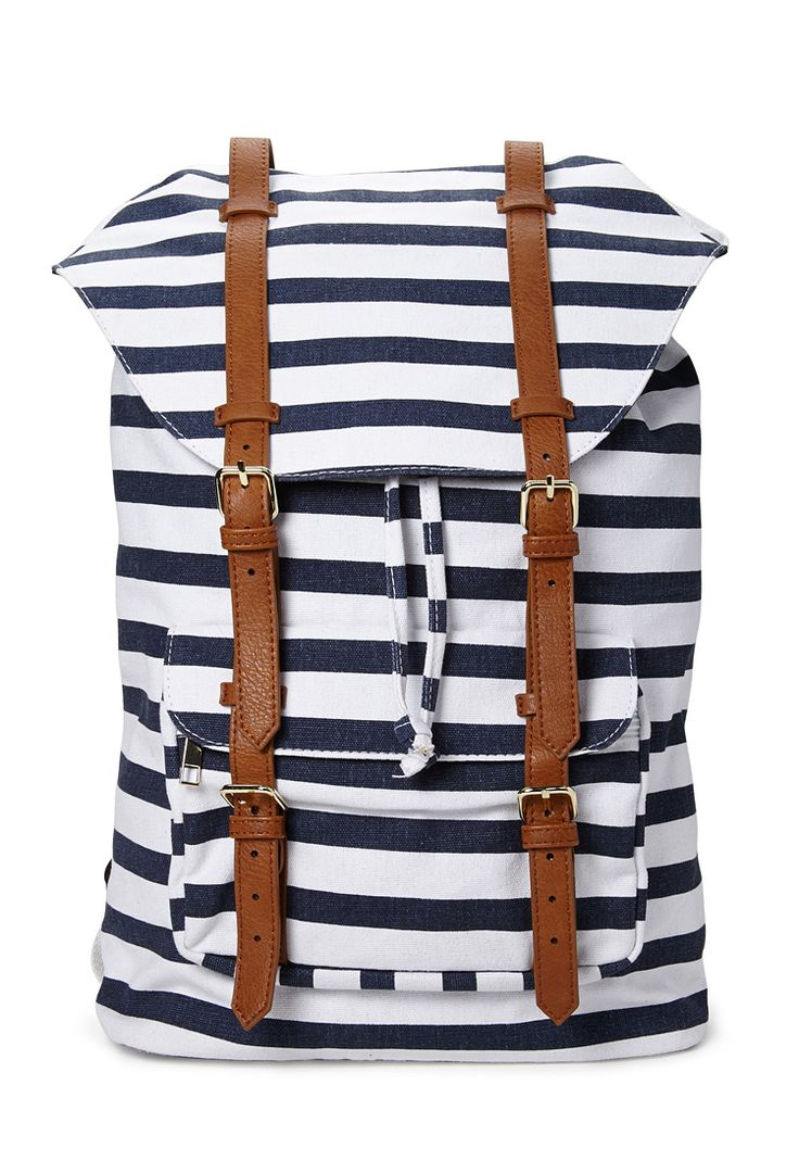 Shore Thing Canvas Backpack | FOREVER21 #Accessories #Stripes