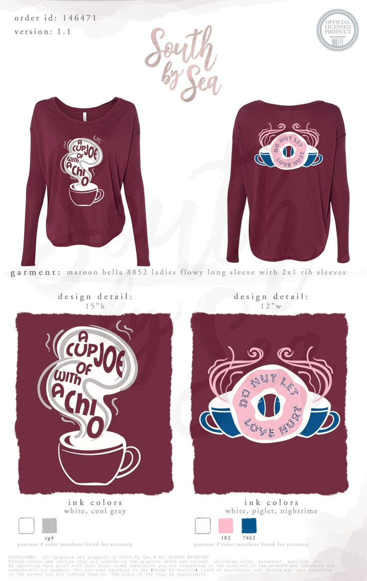 A Cup of Joe with Chi O | Chi Omega | Donut Let Love Hurt | Philanthropy Design | Coffee Fundraiser | Domestic Violence Awareness | South by Sea | Greek Tee Shirts | Greek Tank Tops | Custom Apparel Design | Custom Greek Apparel | Sorority Tee Shirts | Sorority Tanks | Sorority Shirt Designs