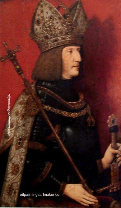 Bernhard Strigel Portrait of Maximilian I (1459-1519) - Bernhard Strigel painting online, painting Authorized official website