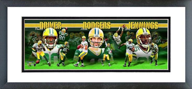 Aaron Rodgers, Greg Jennings, and Donald Driver Picture 2010 Panoramic. #Rodgers #Driver #Jennings