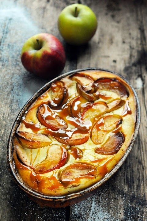 Apple Custard... French with recipe in English