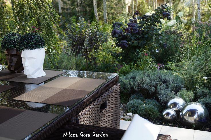 View from the terrace. Wilcza Gora Garden.