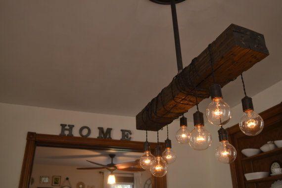 Ferme maison de lumi re pendentif luminaire bois clair for Lustre cuisine rustique