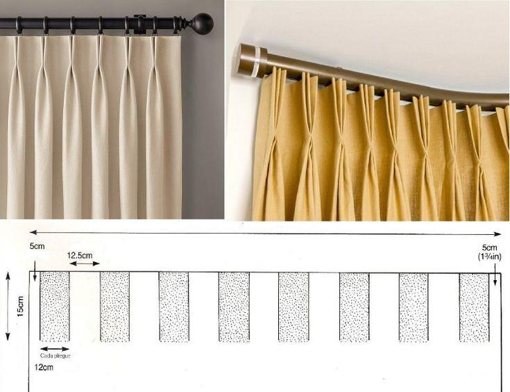 8 best Cortinas images on Pinterest   Hacer cortinas, Cortinas de ...