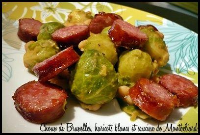 http://www.speedrecette.com/recette-157746/Choux de Bruxelles, haricots blancs et saucisse de Montb�liard.html