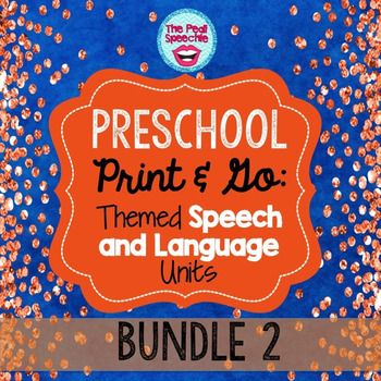 Preschool Speech and Language: themed preschool speech therapy worksheets and flip books!Save 15% when you purchase the bundle.This bundle (Preschool Speech and Language Bundle #2) includes the following packets:Preschool Speech and Language GardeningPreschool Speech and Language Fishing Preschool Speech and Language Rainforest Preschool Speech and Language TransportationPreschool Speech and Language Zoo  More Preschool Speech and Language Packets are available here:Preschool Speech and…