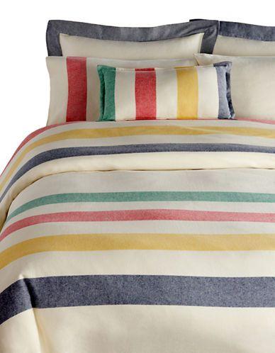 Harper - Multi Stripe Flannel Duvet Cover   Hudson's Bay