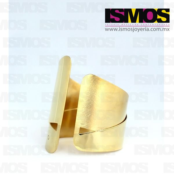 ISMOS Joyería: brazalete dorado // ISMOS Jewelry: golden bangle