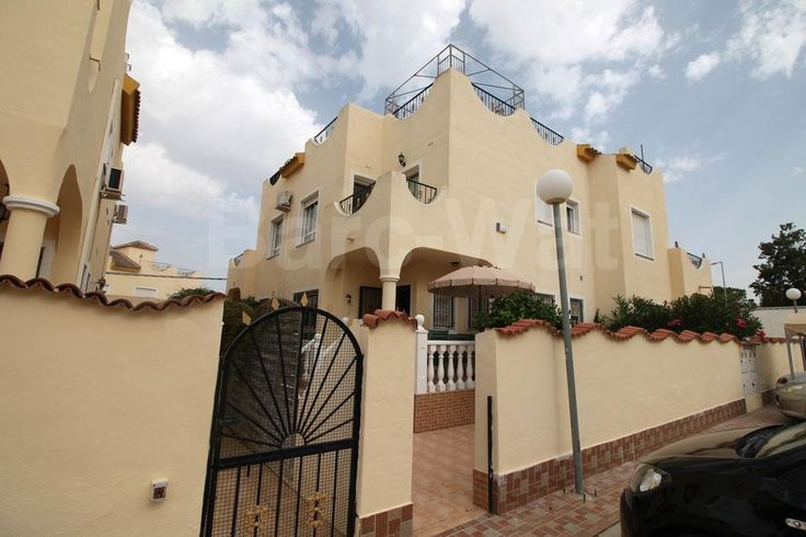 "Property Ref: 4101 Located in Urb. El Oasis this lovely south facing quad model ""Isla Cristina"" with communal swimming pool. The property comprises of living/dining room, independent kitchen, utility room, bathroom and a ground floor double bedroom. Stairs then lead up onto the first floor where we find a further two double bedrooms, another bathroom and a balcony with views. This property offers private parking and is being offered fully furnished with all white goods included Price: 110€"