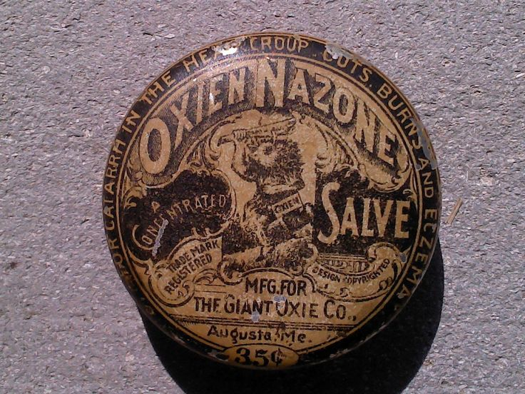 Vintage OXIEN NAZONE SALVE Quack Medicine Ointment Tin
