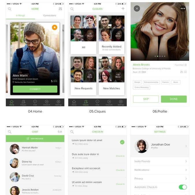 Create a Tinder style app for professionals by Kreative Mindz