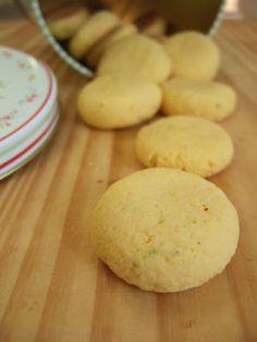 PECADO DA GULA: Biscoitinhos de fubá e limão
